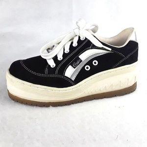 Candies Platform Sneakers Leather Vintage Size 7.5